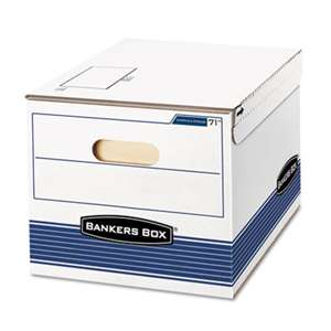 FELLOWES MFG. CO. STOR/FILE Storage Box, Letter/Legal, 12 x 15 x 10, White/Blue, 12/Carton