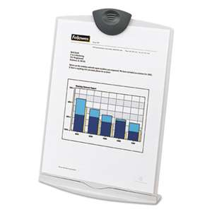 FELLOWES MFG. CO. Copy Stand, Plastic, 75 Sheet Capacity, Platinum/Charcoal