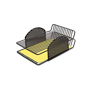 FELLOWES MFG. CO. Perf-Ect Double Letter Tray, Two Tier, Wire, Black