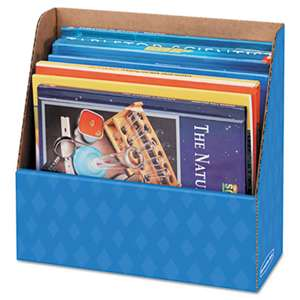 FELLOWES MFG. CO. Folder Holder Storage Box, 11 3/4 x 4 1/2 x 11, Blue