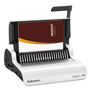 FELLOWES MFG. CO. Pulsar Manual Comb Binding System, 300 Sheets, 18 1/8 x 15 3/8 x 5 1/8, White