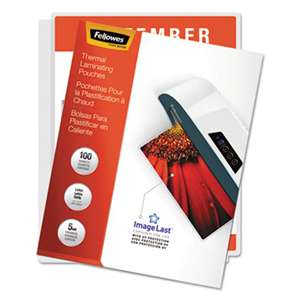 Fellowes 52040 ImageLast Laminating Pouches with UV Protection, 5mil, 11 1/2 x 9, 100/Pack