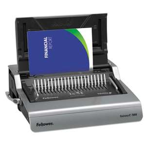 FELLOWES MFG. CO. Galaxy Electric Comb Binding System, 500 Sheets, 19 5/8 x 17 3/4 x 6 1/2, Gray