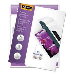 Fellowes 52225 ImageLast Laminating Pouches with UV Protection, 3mil, 11 1/2 x 9, 50/Pack
