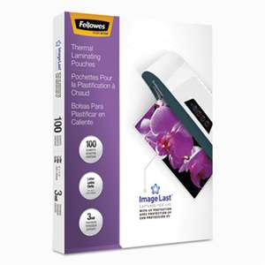 FELLOWES MFG. CO. ImageLast Laminating Pouches with UV Protection, 3mil, 11 1/2 x 9, 100/Pack
