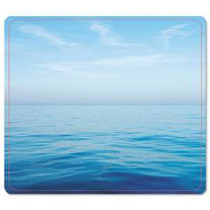 FELLOWES MFG. CO. Recycled Mouse Pad, Nonskid Base, 7 1/2 x 9, Blue Ocean