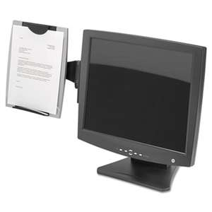 FELLOWES MFG. CO. Office Suites Monitor Mount Copyholder, Plastic, Holds 150 Sheets, Black/Silver