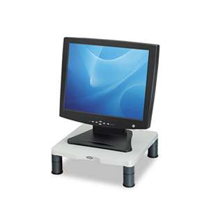 FELLOWES MFG. CO. Standard Monitor Riser, 13 1/8 x 13 1/2 x 2, Platinum/Graphite