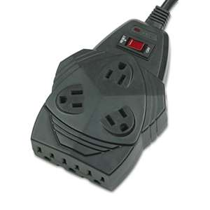 Fellowes 99090 Mighty 8 Surge Protector, 8 Outlets, 6 ft Cord, 1300 Joules, Black