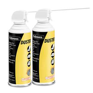 FELLOWES MFG. CO. Air Duster, 152A Liquefied Gas, 10oz Can, Two Per Pack