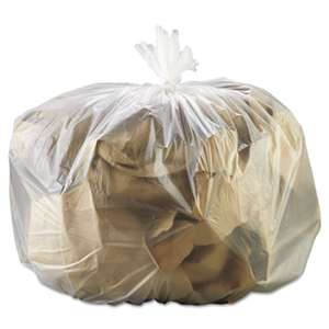 GENERAL SUPPLY High-Density Can Liner, 33 x 39, 33gal, 13mic, Natural, 25 Bags/RL, 10 Rolls/CT
