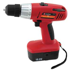 "GREAT NECK SAW MFG. Great Neck 18 Volt 2 Speed Cordless Drill, 3/8"" Keyless Chuck"