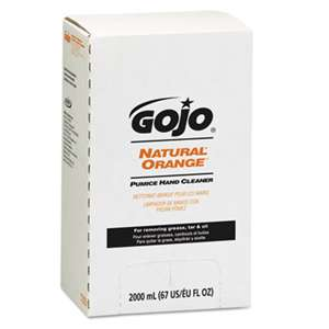 GO-JO INDUSTRIES NATURAL ORANGE Pumice Hand Cleaner Refill, Citrus Scent, 2000mL, 4/Carton