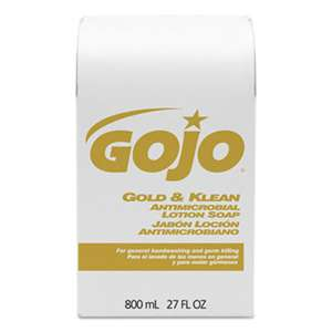GO-JO INDUSTRIES Gold & Klean Lotion Soap Bag-in-Box Dispenser Refill, Floral Balsam, 800mL