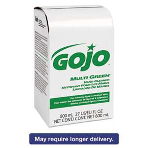 GO-JO INDUSTRIES MULTI GREEN Hand Cleaner 800mL Bag-in-Box Dispenser Refill