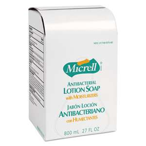 GO-JO INDUSTRIES MICRELL Antibacterial Lotion Soap Refill, Light Scent, Liquid, 800mL