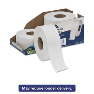 "Georgia Pacific Professional 2172114 White Jumbo Bathroom Tissue, 2-Ply, 3 1/2 x 1000 ft, 9""Dia, 4/Carton"