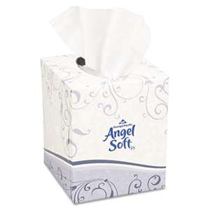 Georgia Pacific Professional 46580BX Premium Facial Tissue, White, Cube Box, 96 Sheets/Box