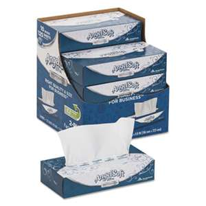 GEORGIA PACIFIC ps Ultra Facial Tissue, 2-Ply, White, 8 4/5 x 7 2/5, 125/Box, 10 Boxes/Carton
