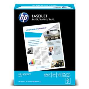 HEWLETT PACKARD COMPANY LaserJet Paper, Ultra White, 97 Bright, 24lb, Letter, 2500 Sheets/Carton