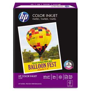 HEWLETT PACKARD COMPANY Color Inkjet Paper, 97 Brightness, 24lb, 8-1/2 x 11, White, 500 Sheets/Ream