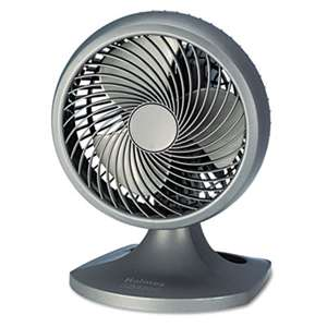 "HOLMES PRODUCTS Blizzard 9"" Three-Speed Oscillating Table/Wall Fan, Charcoal"