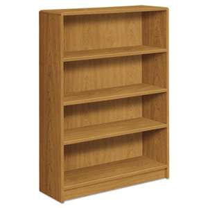 HON COMPANY 1890 Series Bookcase, Four Shelf, 36w x 11 1/2d x 48 3/4h, Harvest