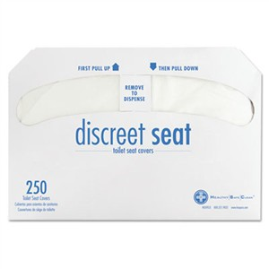 Health Gards DS5000CT Discreet Half-Fold Toilet Seat Covers, White, 250/Pack, 20 Packs/Carton