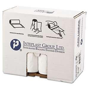 INTEGRATED BAGGING SYSTEMS Low-Density Can Liner, 30 x 36, 30gal, .7mil, White, 25/Roll, 8 Rolls/Carton