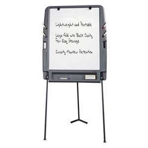 ICEBERG ENTERPRISES Portable Flipchart Easel With Dry Erase Surface, Resin, 35 x 30 x 73, Charcoal