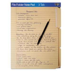 IDEASTREAM CONSUMER PRODUCTS FindIt File Folders Notepad, 1/3 Cut, 11 Pt Stock, Letter, Manila