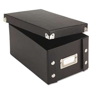 IDEASTREAM CONSUMER PRODUCTS Collapsible Index Card File Box, Holds 1,100 4 x 6 Cards, Black