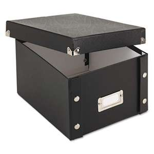 IDEASTREAM CONSUMER PRODUCTS Collapsible Index Card File Box, Holds 1,100 5 x 8 Cards, Black