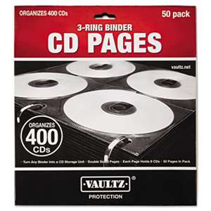 IDEASTREAM CONSUMER PRODUCTS Two-Sided CD Refill Pages for Three-Ring Binder, 50/Pack