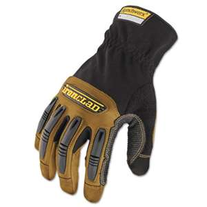 IRONCLAD PERFORMANCE WEAR Ranchworx Leather Gloves, Black/Tan, Large