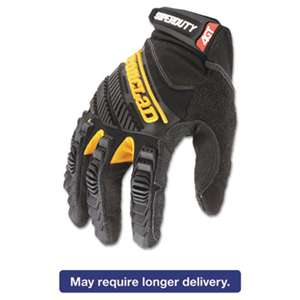 IRONCLAD PERFORMANCE WEAR SuperDuty Gloves, Large, Black/Yellow, 1 Pair