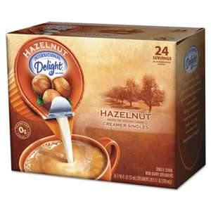 DEAN FOODS Coffee Creamer, Hazelnut, 0.4375 oz Liquid, 24/Box