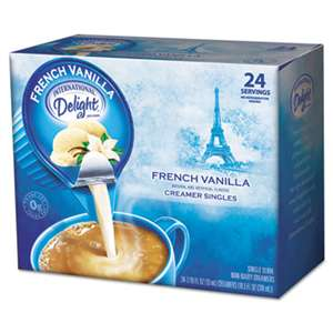 DEAN FOODS Flavored Liquid Non-Dairy Coffee Creamer, French Vanilla, 0.4375 oz Cup, 24/Box