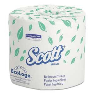 KIMBERLY CLARK Standard Roll Bathroom Tissue, 2-Ply, 550 Sheets/Roll