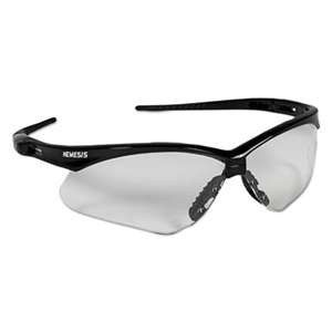 KIMBERLY CLARK Nemesis Safety Glasses, Black Frame, Clear Lens