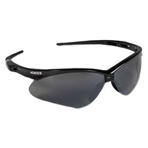 KIMBERLY CLARK V30 Nemesis Safety Glasses, Black Frame, Smoke Lens