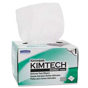 Kimtech* 34155 KIMWIPES, Delicate Task Wipers, 4 2/5 x 8 2/5, 280/Box