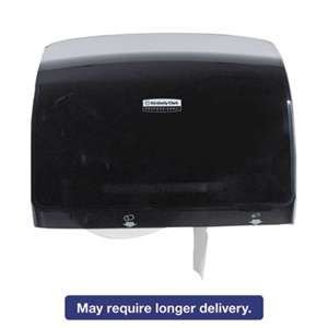 KIMBERLY CLARK Coreless JRT Tissue Dispenser, 14 1/10w x 5 4/5d x 10 2/5h, Black
