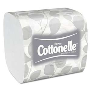 Cottonelle 48280 Hygienic Bathroom Tissue, 2-Ply, 250/Pack, 36/Carton
