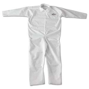 KIMBERLY CLARK A20 Breathable Particle-Pro Coveralls, Zip, 2X-Large, White, 24/Carton