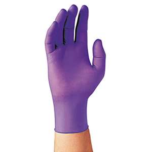 KIMBERLY CLARK PURPLE NITRILE Exam Gloves, Large, Purple, 100/Box