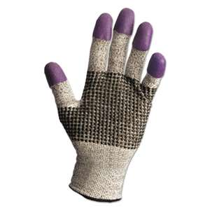 KIMBERLY CLARK G60 Purple Nitrile Gloves, Large/Size 9, Black/White, Pair