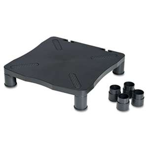 KELLY COMPUTER SUPPLIES Monitor/Printer Stand,13 1/4 x 13 1/2 x 4, Black