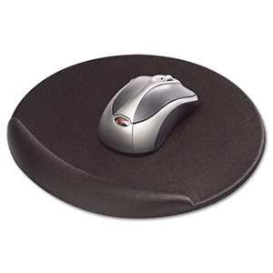 Kelly Computer Supply 50155 Viscoflex Memory Foam Oval Mouse Pad, Black