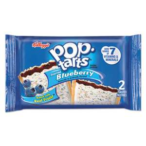 KELLOGG'S Pop Tarts, Frosted Blueberry, 3.67oz, 2/Pack, 6 Packs/Box